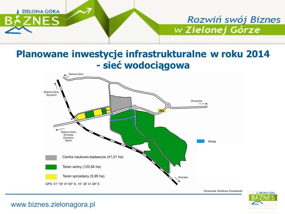 Planowane inwestycje infrastrukturalne w roku 2014 - kanalizacja sanitarna