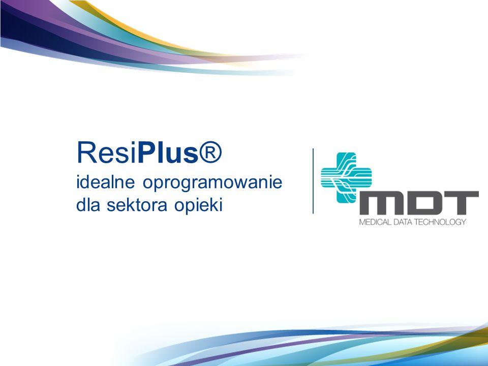 ResiPlus® idealne oprogramowanie dla sektora opieki