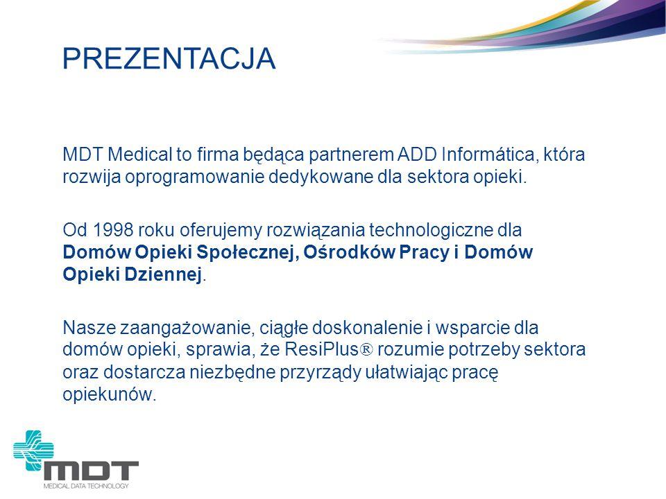 MDT Medical to firma będąca partnerem ADD Informática, która rozwija oprogramowanie dedykowane dla sektora opieki. Od 1998 roku oferujemy rozwiązania