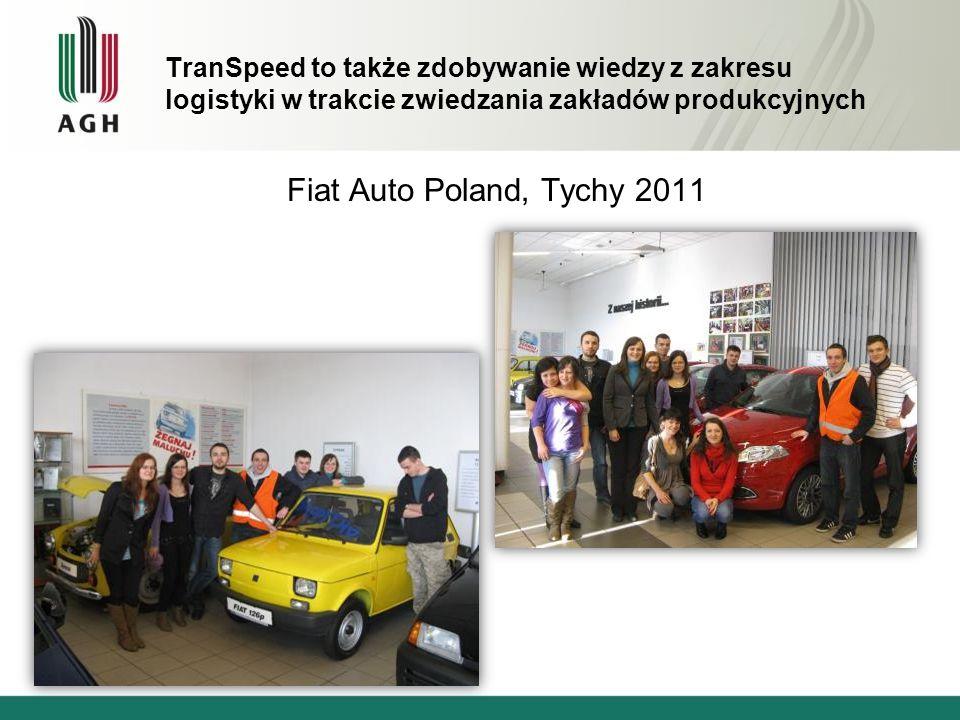 TranSpeed to także zdobywanie wiedzy z zakresu logistyki w trakcie zwiedzania zakładów produkcyjnych Fiat Auto Poland, Tychy 2011
