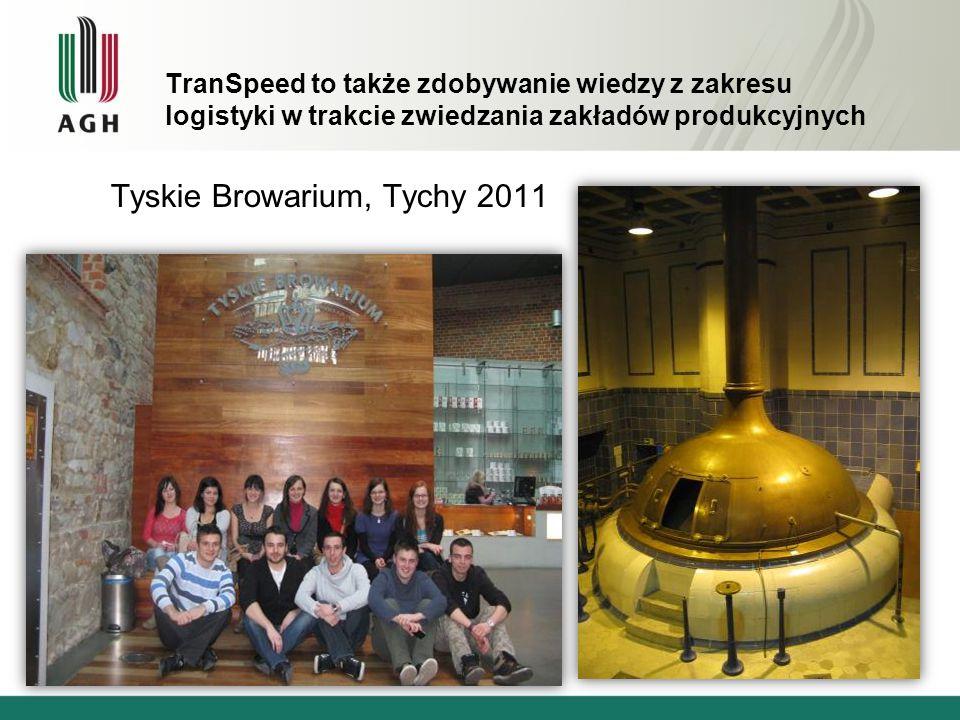TranSpeed to także zdobywanie wiedzy z zakresu logistyki w trakcie zwiedzania zakładów produkcyjnych Tyskie Browarium, Tychy 2011