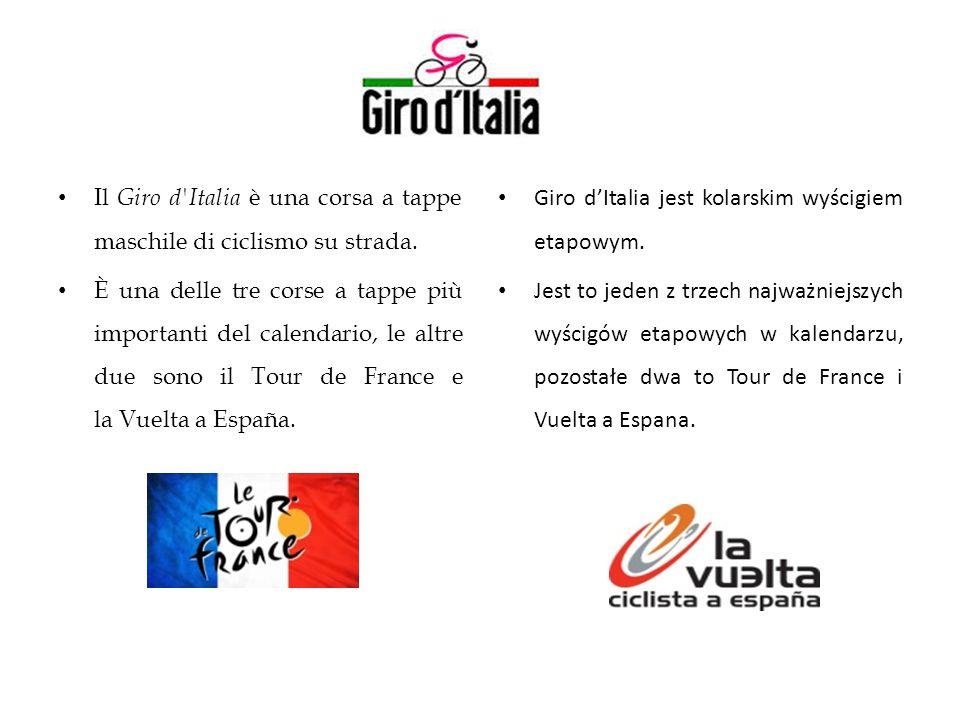 Il Giro d'Italia è una corsa a tappe maschile di ciclismo su strada. È una delle tre corse a tappe più importanti del calendario, le altre due sono il