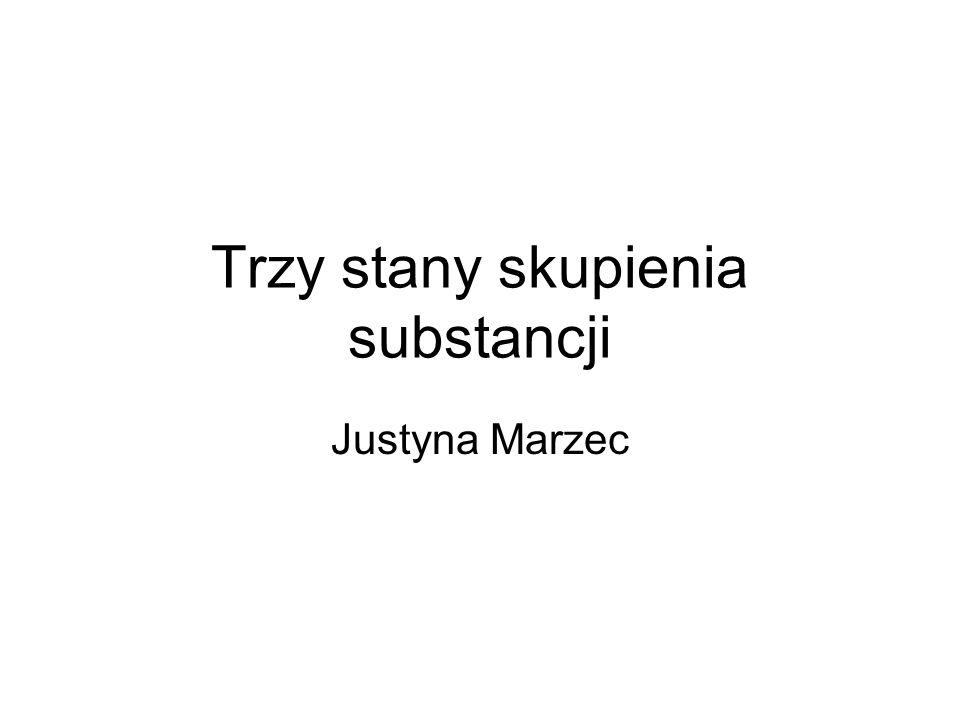 Trzy stany skupienia substancji Justyna Marzec