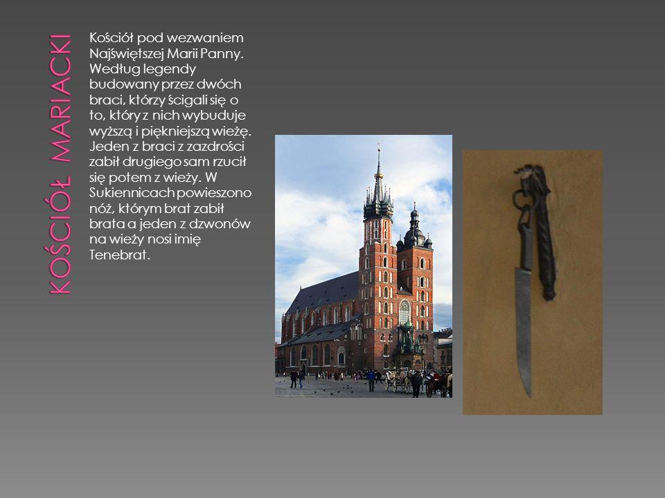Kościół pod wezwaniem Najświętszej Marii Panny. Według legendy budowany przez dwóch braci, którzy ścigali się o to, który z nich wybuduje wyższą i pię