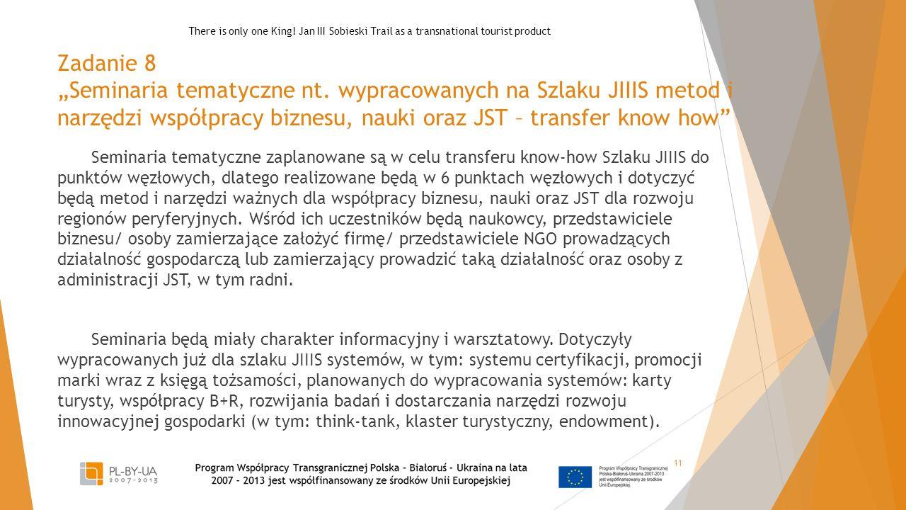 """Zadanie 8 """"Seminaria tematyczne nt."""