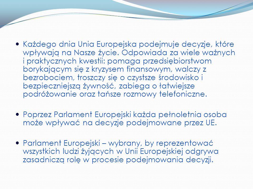 Każdego dnia Unia Europejska podejmuje decyzje, które wpływają na Nasze życie.