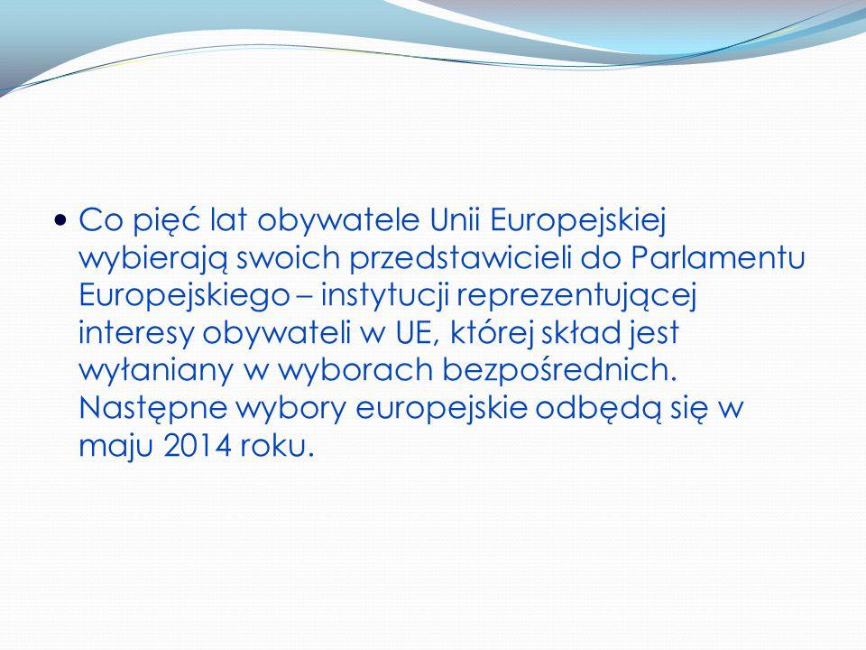 Co pięć lat obywatele Unii Europejskiej wybierają swoich przedstawicieli do Parlamentu Europejskiego – instytucji reprezentującej interesy obywateli w UE, której skład jest wyłaniany w wyborach bezpośrednich.