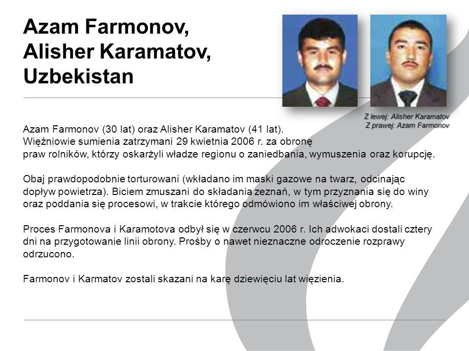 Azam Farmonov, Alisher Karamatov, Uzbekistan Azam Farmonov (30 lat) oraz Alisher Karamatov (41 lat).