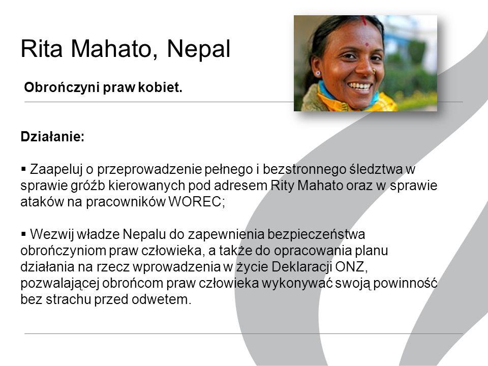 Rita Mahato,Nepal Obrończyni praw kobiet.