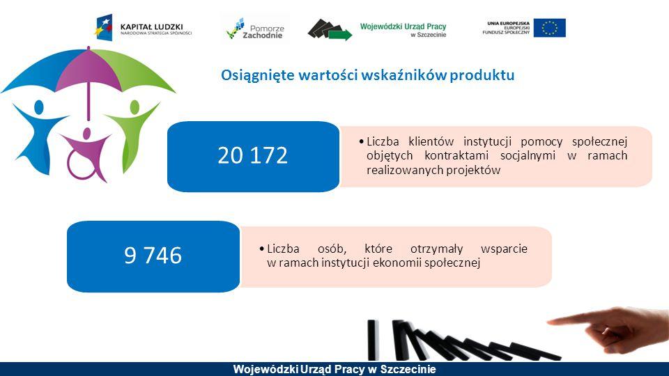 Wojewódzki Urząd Pracy w Szczecinie Liczba klientów instytucji pomocy społecznej objętych kontraktami socjalnymi w ramach realizowanych projektów 20 1