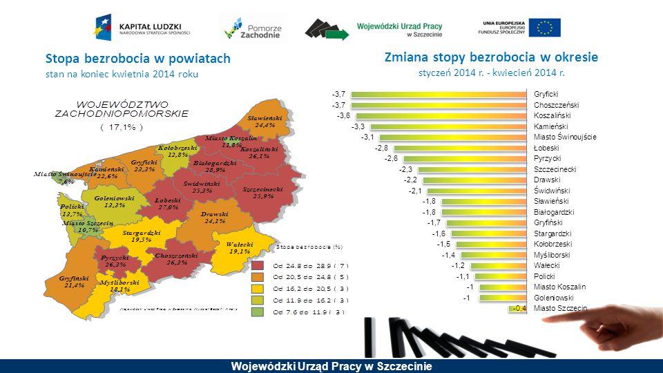 Wojewódzki Urząd Pracy w Szczecinie Prognoza netto zatrudnienia Przewidywania dotyczące całkowitego zatrudnienia w badanych podmiotach gospodarki narodowej w latach 2012 - 2014 r.