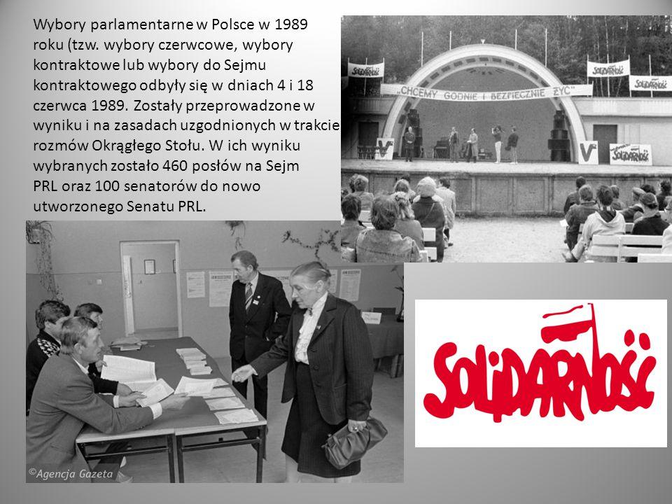 Wybory parlamentarne w Polsce w 1989 roku (tzw. wybory czerwcowe, wybory kontraktowe lub wybory do Sejmu kontraktowego odbyły się w dniach 4 i 18 czer