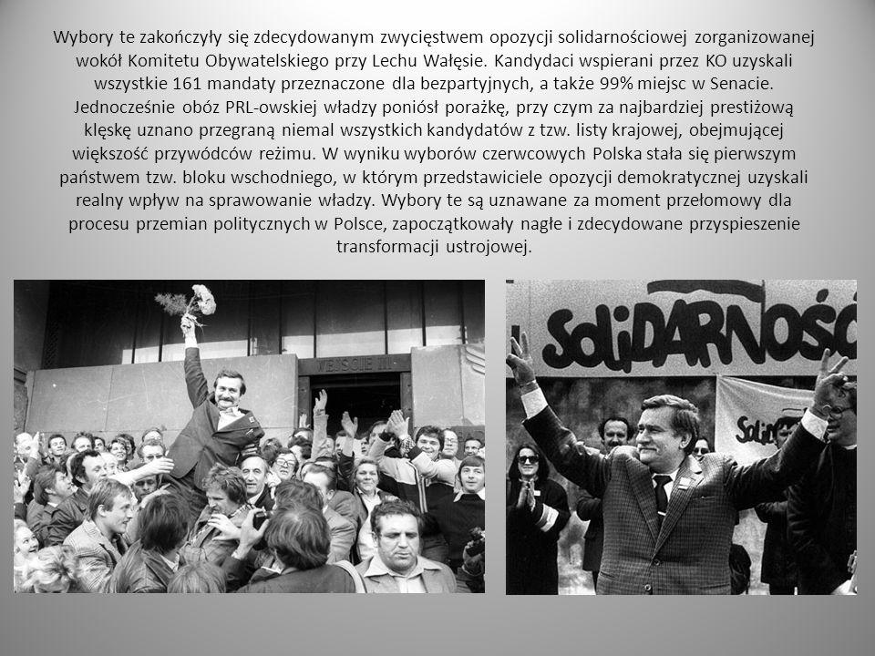 Wybory te zakończyły się zdecydowanym zwycięstwem opozycji solidarnościowej zorganizowanej wokół Komitetu Obywatelskiego przy Lechu Wałęsie. Kandydaci