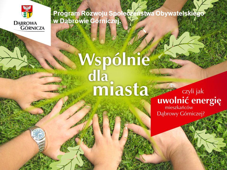 Program Rozwoju Społeczeństwa Obywatelskiego w Dąbrowie Górniczej.
