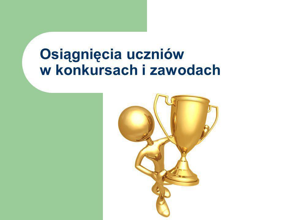 Osiągnięcia uczniów w konkursach i zawodach