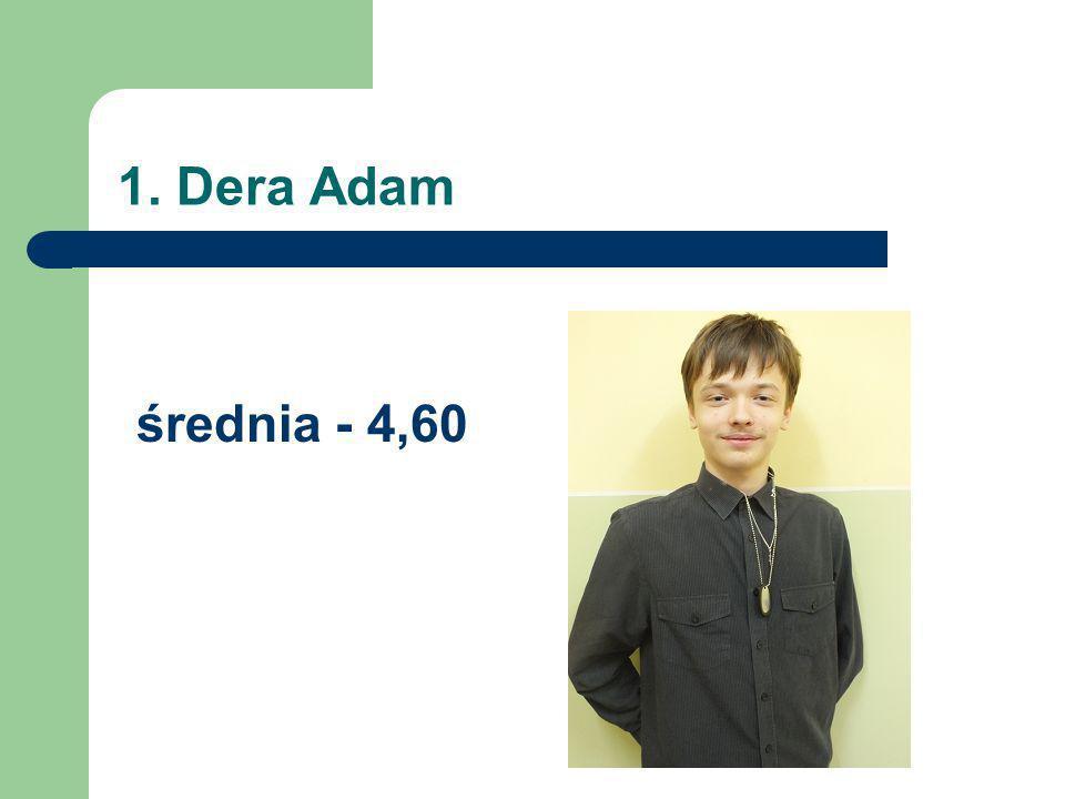 1. Dera Adam średnia - 4,60
