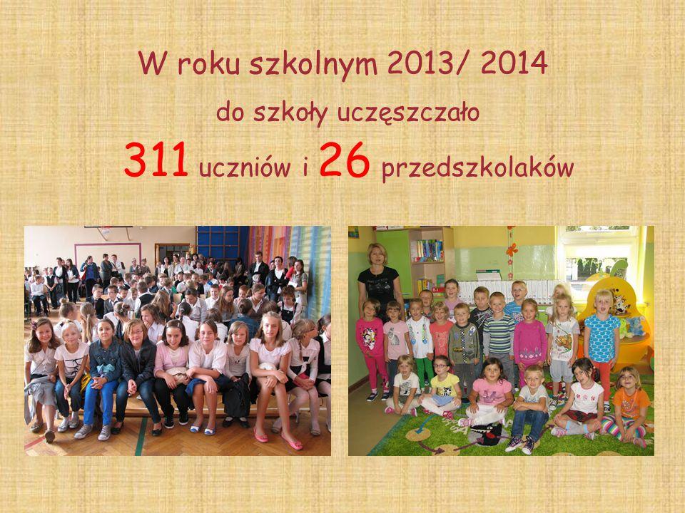 W roku szkolnym 2013/ 2014 do szkoły uczęszczało 311 uczniów i 26 przedszkolaków