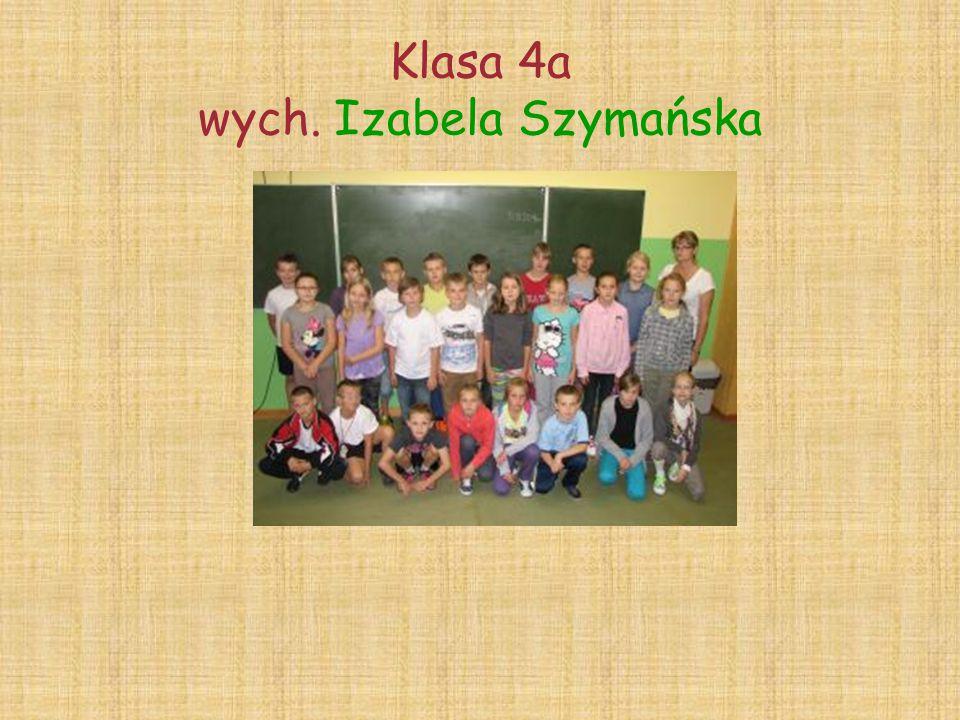 Klasa 4a wych. Izabela Szymańska