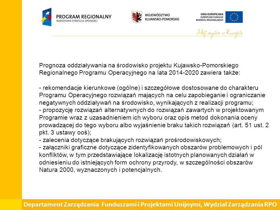 ETAPY - przebieg procesu strategicznej ooś {Strategic Environmental Assessment - SEA}: - opracowanie projektu dokumentu przez Instytucję Zarządzająca {Zarząd Województwa}, - uzgodnienie zakresu i stopnia szczegółowości prognozy oddziaływania na środowisko dla projektu dokumentu z właściwym organem {RDOŚ oraz PWIS} - uzgodnienie ma charakter wiążący i wydawany jest do 30 dni od dnia otrzymania wniosku, - sporządzenie bazowego opisu przedmiotu zamówienia sooś dla projekt K-P RPO na lata 2014-2020, - przeprowadzenie procedury zamówienia publicznego na realizację prognozy sooś, - opracowanie prognozy oddziaływania na środowisko dla projektu dokumentu,