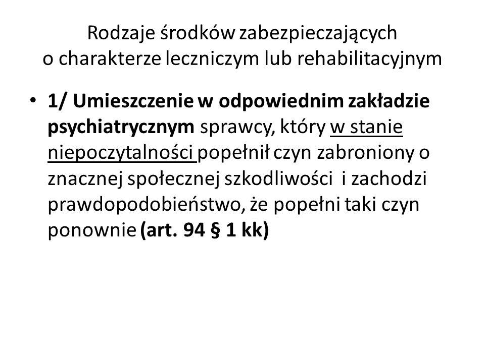 Komisja psychiatryczna do spraw środków zabezpieczających (Siedziba: Regionalny Ośrodek Psychiatrii Sądowej w Gostyninie Zalesiu) Podstawa prawna działania: - Art.