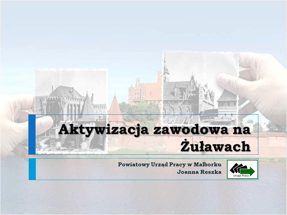 Aktywizacja zawodowa na Żuławach Powiatowy Urząd Pracy w Malborku Joanna Reszka
