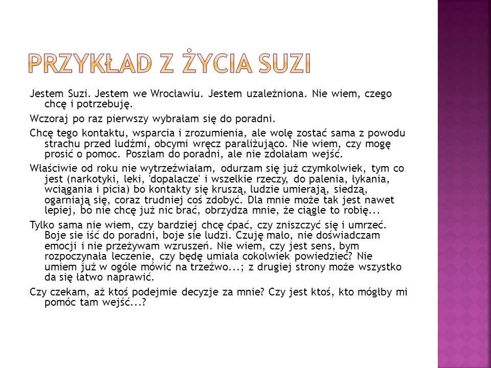 Jestem Suzi.Jestem we Wrocławiu. Jestem uzależniona.