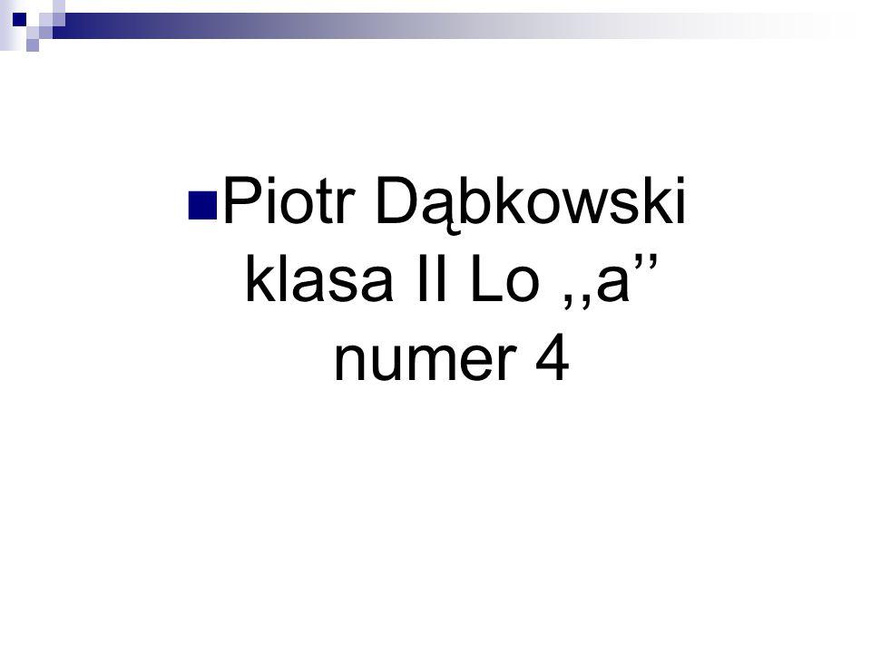 Piotr Dąbkowski klasa II Lo,,a'' numer 4
