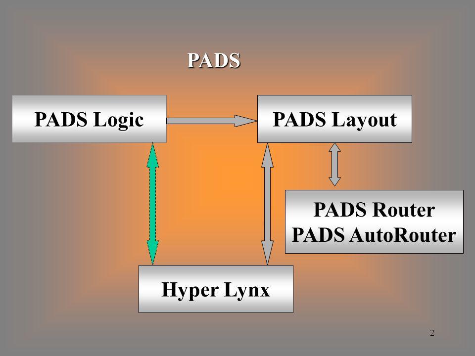 3 PADS Logic - rysowanie schematów ideowych, - tworzenie listy połączeń, - tworzenie wykaz elementów.