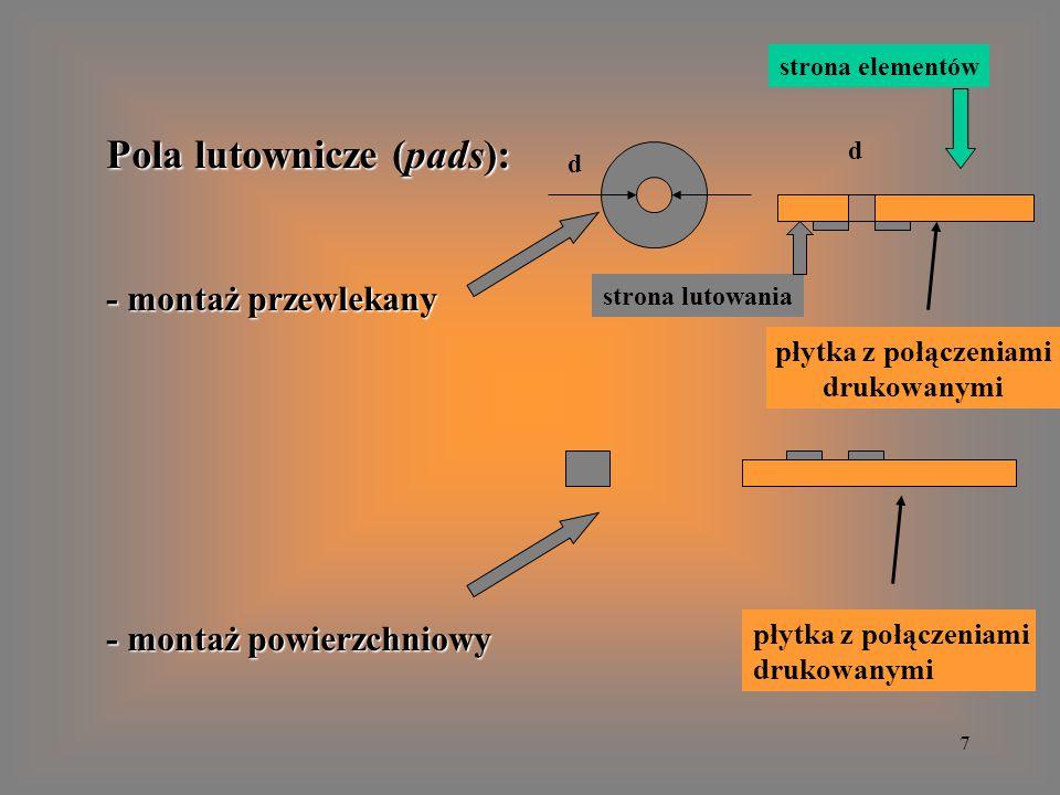 18 PADS LAYOUT PCB - do tworzenia plików do sterowania fotoplotera: = klisze ścieżek każdej warstwy, = klisze ścieżek każdej warstwy, = klisze do maski zakrywającej ścieżki, = klisze do maski zakrywającej ścieżki, = klisze do sitodruku opisów, = klisze do sitodruku opisów, = klisze do wykonania szablonów do nałożenia = klisze do wykonania szablonów do nałożenia pasty lutowniczej przy montażu powierzchniowym.