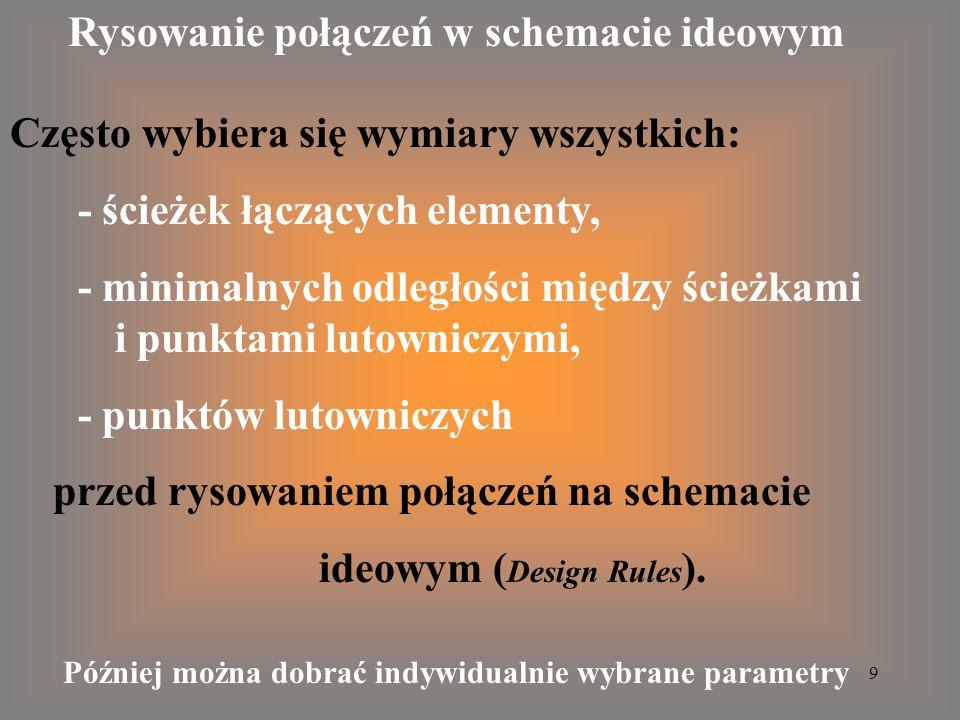 10 Schemat ideowy - PADS Logic Biblioteka Wzmacniacz I i N gr Design Add Part Start a new design