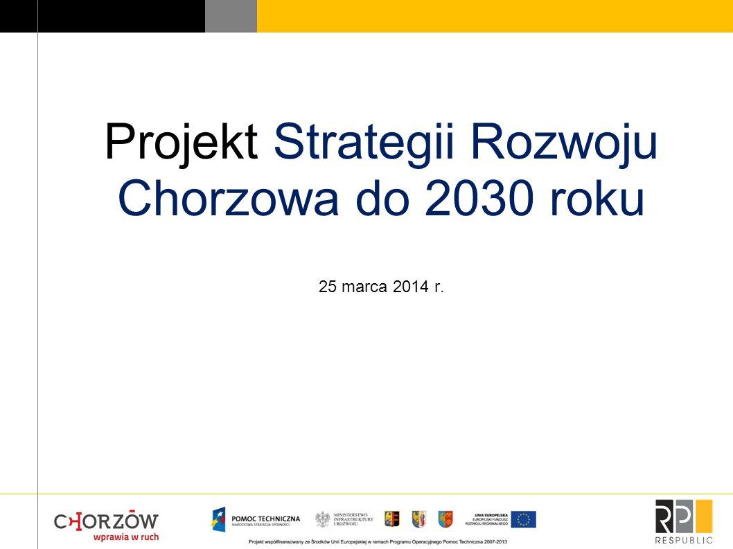 Projekt Strategii Rozwoju Chorzowa do 2030 roku 25 marca 2014 r.