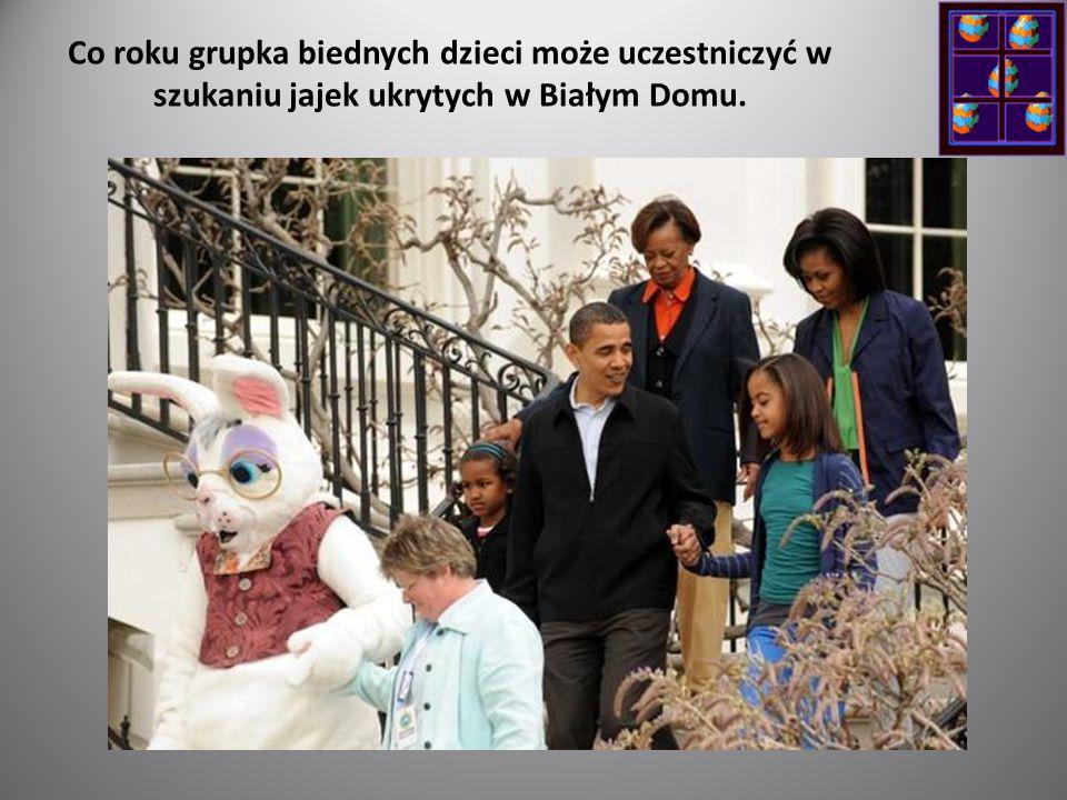 Co roku grupka biednych dzieci może uczestniczyć w szukaniu jajek ukrytych w Białym Domu.