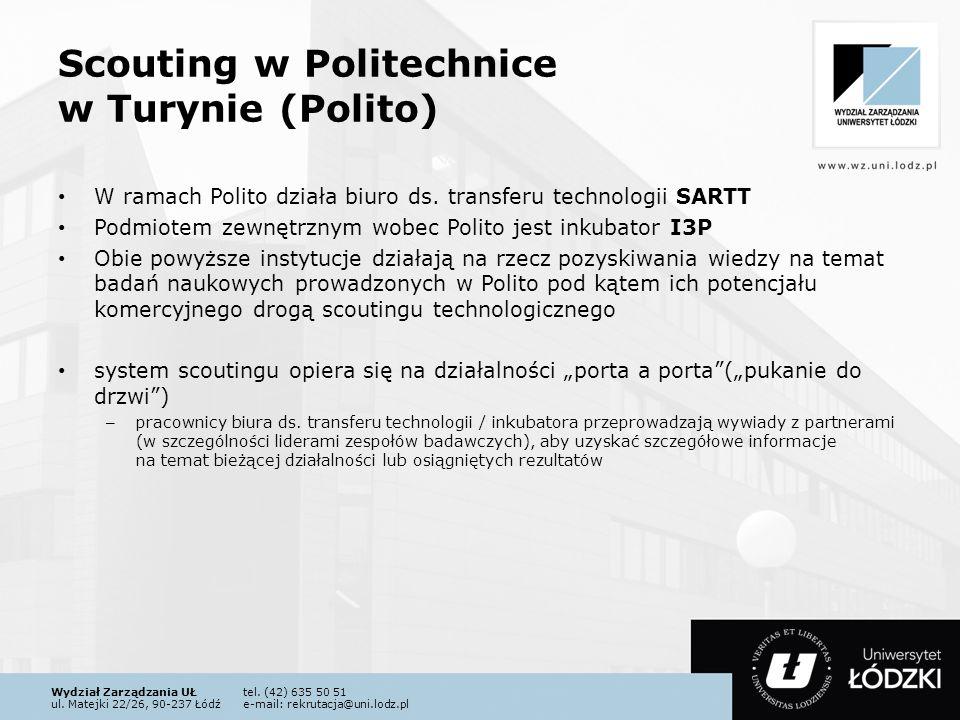 Wydział Zarządzania UŁtel. (42) 635 50 51 ul. Matejki 22/26, 90-237 Łódźe-mail: rekrutacja@uni.lodz.pl Scouting w Politechnice w Turynie (Polito) W ra