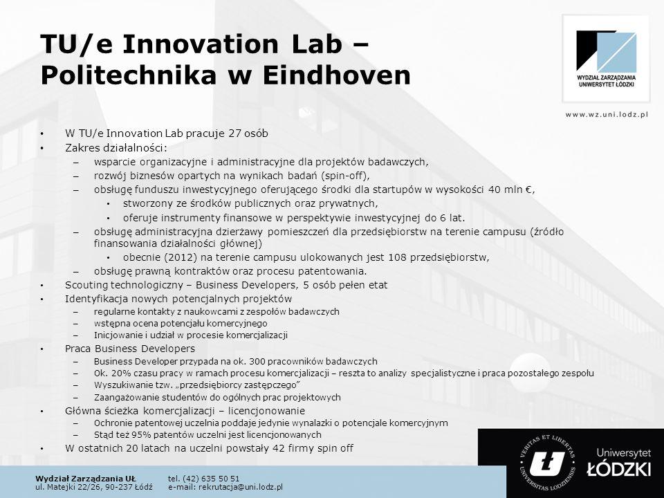 Wydział Zarządzania UŁtel. (42) 635 50 51 ul. Matejki 22/26, 90-237 Łódźe-mail: rekrutacja@uni.lodz.pl TU/e Innovation Lab – Politechnika w Eindhoven