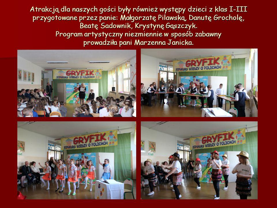 Atrakcją dla naszych gości były również występy dzieci z klas I-III przygotowane przez panie: Małgorzatę Pilawską, Danutę Grocholę, Beatę Sadownik, Kr