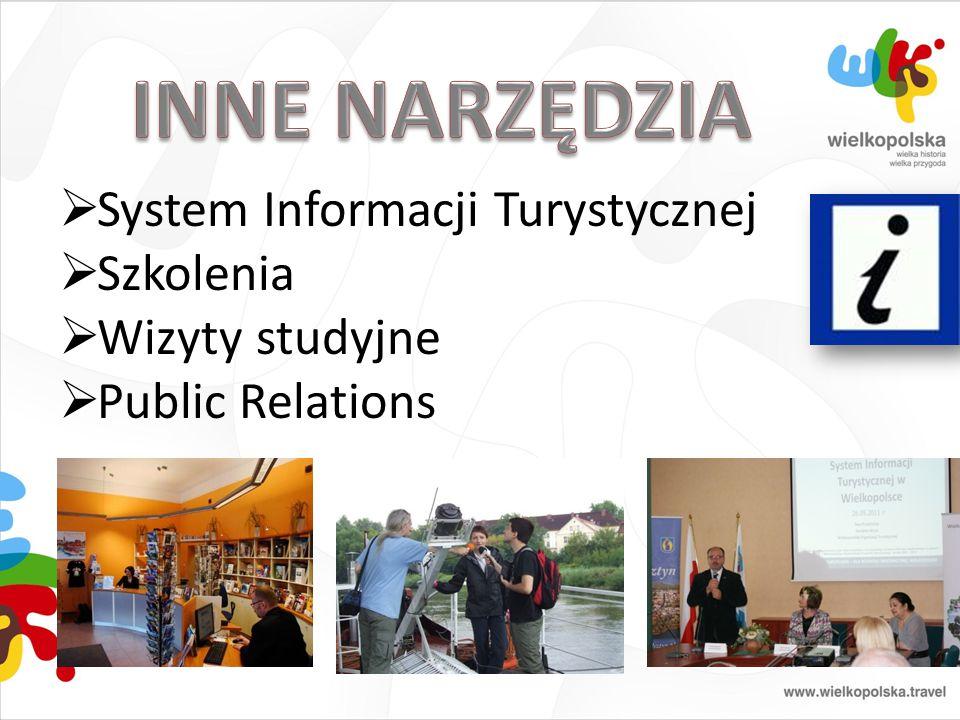  System Informacji Turystycznej  Szkolenia  Wizyty studyjne  Public Relations