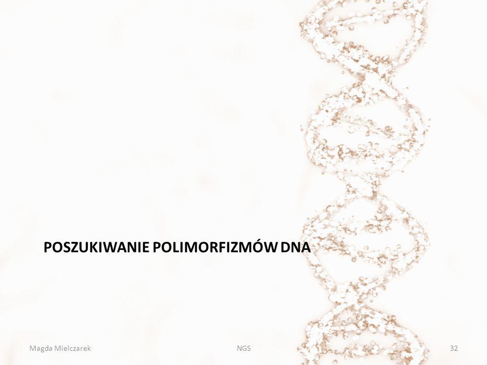 POSZUKIWANIE POLIMORFIZMÓW DNA Magda MielczarekNGS32