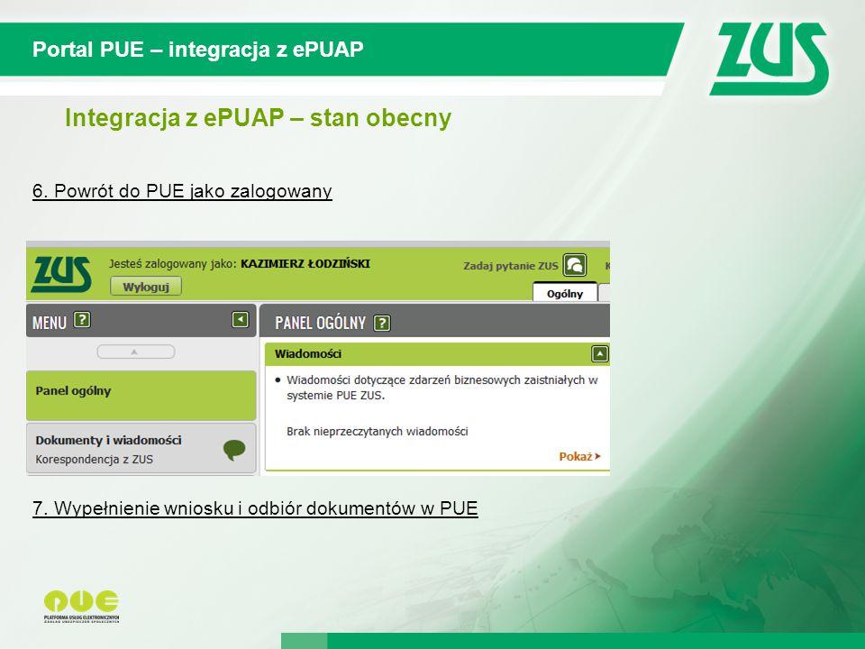 © 2012 Deloitte Projekt współfinansowany ze środków Unii Europejskiej w ramach Europejskiego Funduszu Społecznego Portal PUE – integracja z ePUAP Integracja z ePUAP – stan obecny 6.