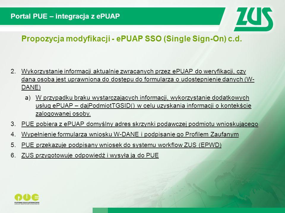 © 2012 Deloitte Projekt współfinansowany ze środków Unii Europejskiej w ramach Europejskiego Funduszu Społecznego Portal PUE – integracja z ePUAP Propozycja modyfikacji - ePUAP SSO (Single Sign-On) c.d.