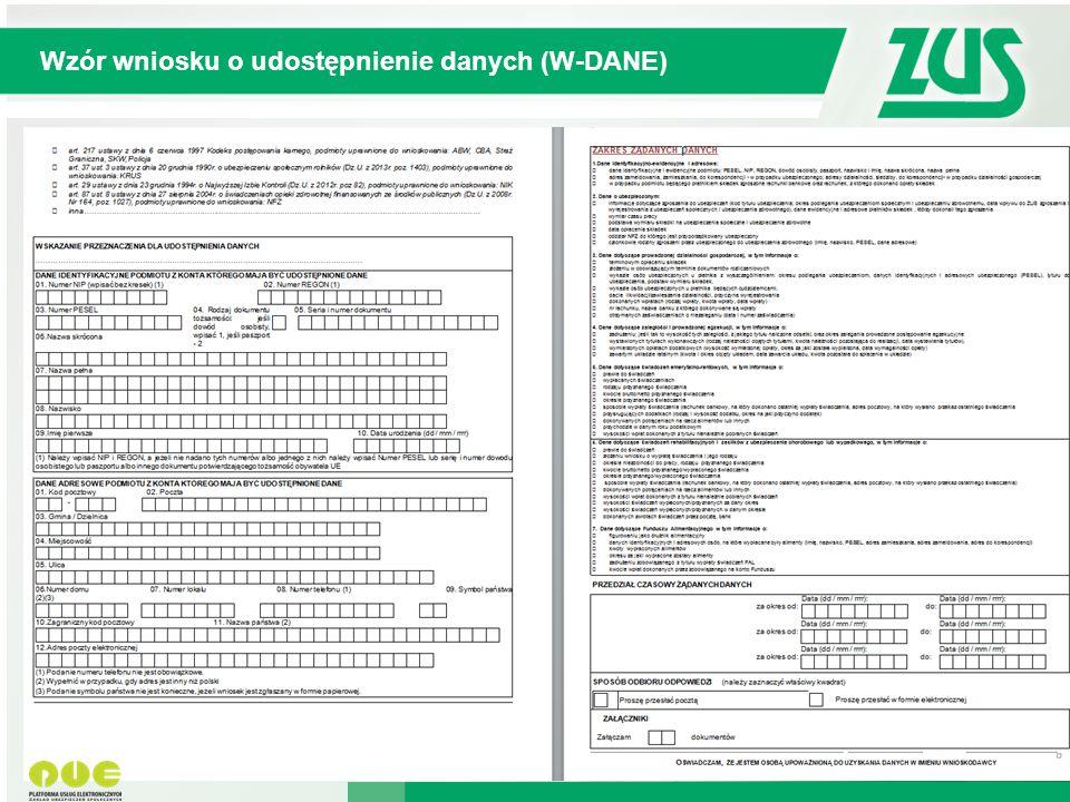 © 2012 Deloitte Projekt współfinansowany ze środków Unii Europejskiej w ramach Europejskiego Funduszu Społecznego Wzór wniosku o udostępnienie danych (W-DANE) -