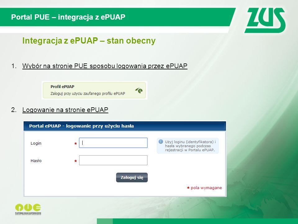 © 2012 Deloitte Projekt współfinansowany ze środków Unii Europejskiej w ramach Europejskiego Funduszu Społecznego Portal PUE – integracja z ePUAP Integracja z ePUAP – stan obecny 1.Wybór na stronie PUE sposobu logowania przez ePUAP 2.Logowanie na stronie ePUAP