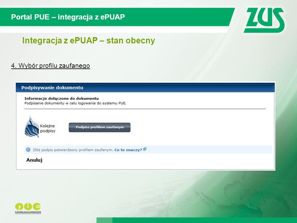 © 2012 Deloitte Projekt współfinansowany ze środków Unii Europejskiej w ramach Europejskiego Funduszu Społecznego Portal PUE – integracja z ePUAP Integracja z ePUAP – stan obecny 4.