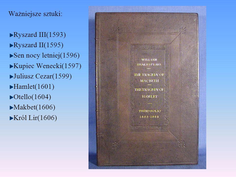 Shakespeare wykorzystywał najbogatszy słownik angielszczyzny, przewyższając pod tym względem wszystkich innych pisarzy, oraz ukształtował niezrównany