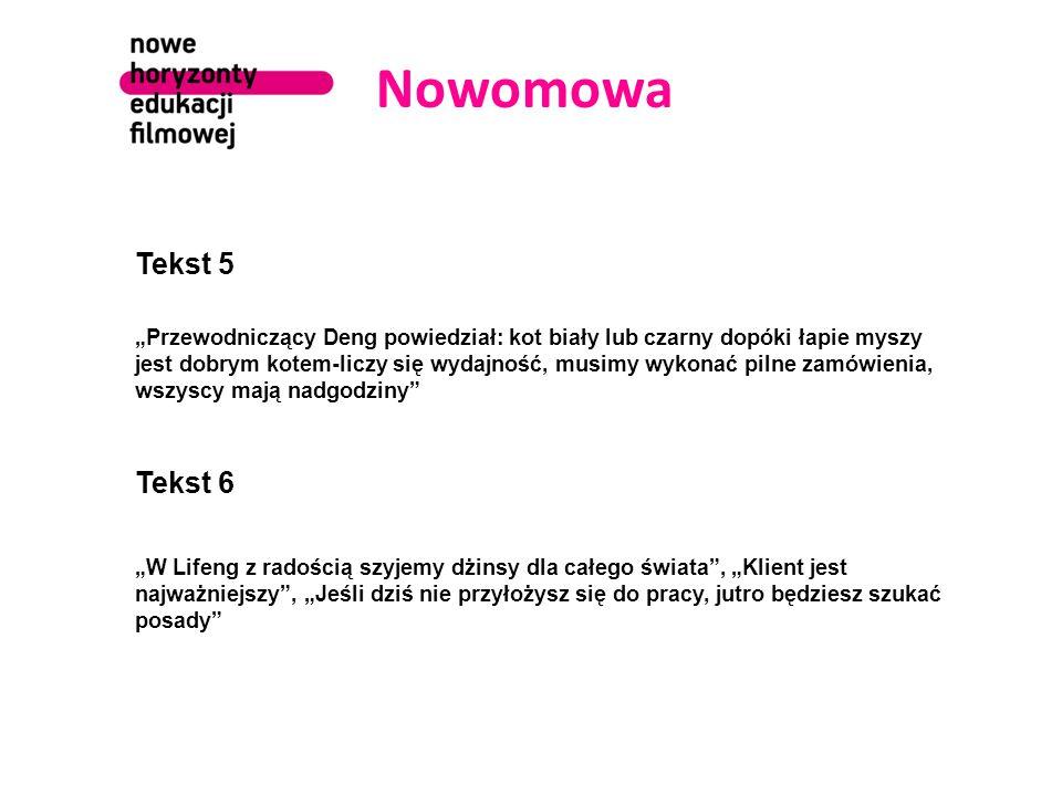 Nowomowa dewastuje język nadaje słowom inne znaczenia sprowadza język do frazesu