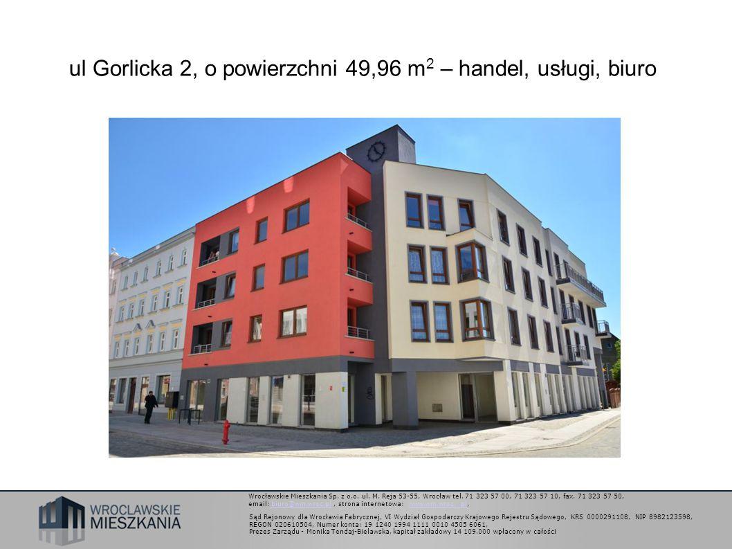 Wrocławskie Mieszkania Sp. z o.o. ul. M. Reja 53-55, Wrocław tel.