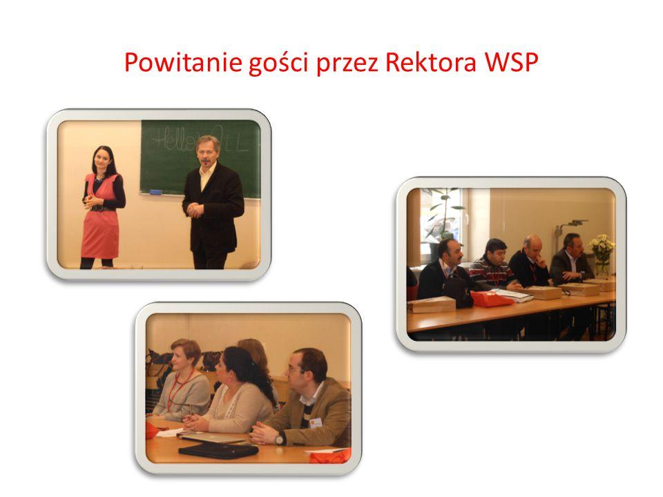 Powitanie gości przez Rektora WSP