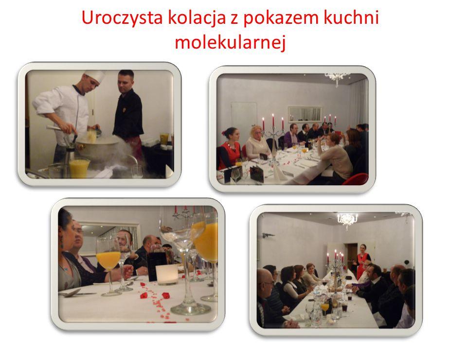 Uroczysta kolacja z pokazem kuchni molekularnej