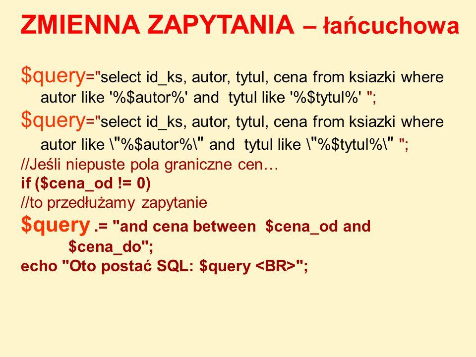 $query =