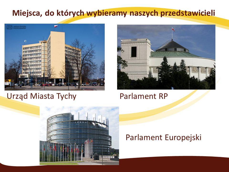 Urząd Miasta Tychy Parlament RP Parlament Europejski Miejsca, do których wybieramy naszych przedstawicieli