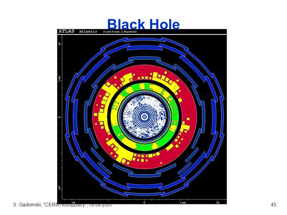 S. Gadomski, CERN i komputery , 19.04.200745 Black Hole